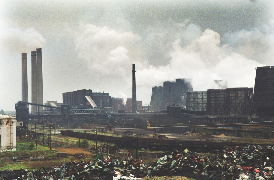 Braunkohlekraftwerk Espenhain 1991